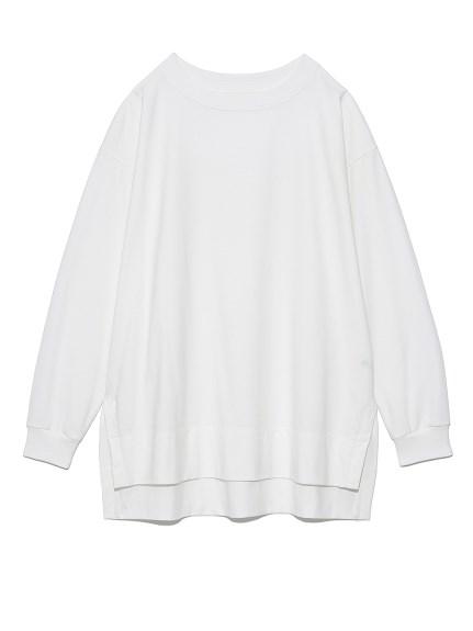 オーバーサイズロングTシャツ(WHT-F)