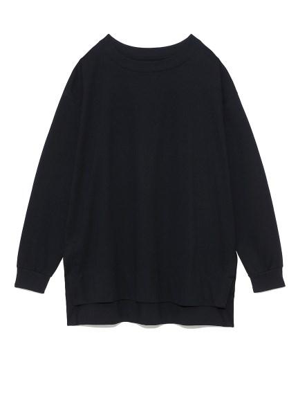 オーバーサイズロングTシャツ(BLK-F)