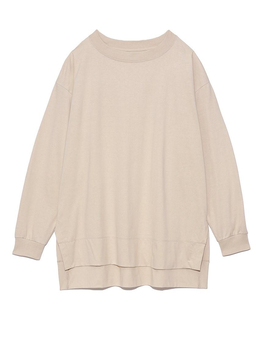 オーバーサイズロングTシャツ(BEG-F)