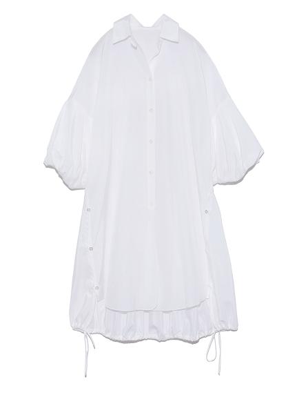 パフスリーブロングシャツ(WHT-F)