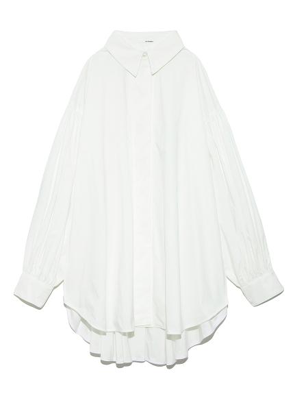 ボリュームスリーブドレスシャツ(WHT-F)