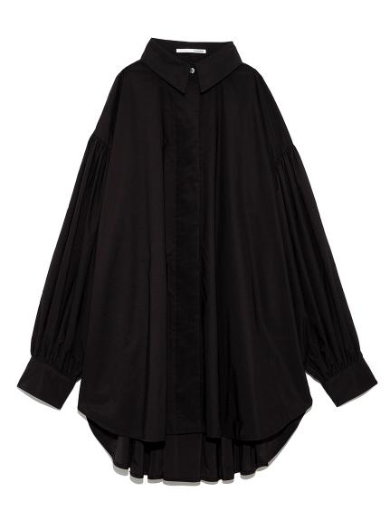ボリュームスリーブドレスシャツ(BLK-F)