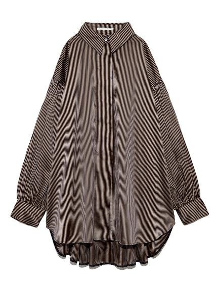 ボリュームスリーブドレスシャツ(STRIPE-F)
