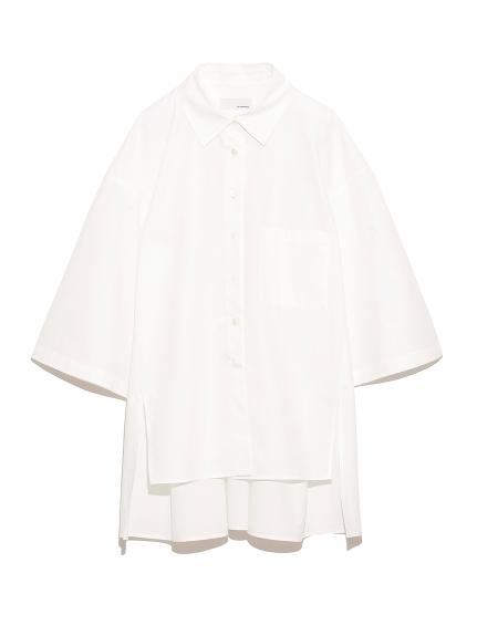 サイドスリット ワイドシャツ(WHT-F)