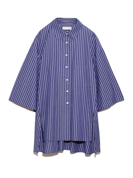 サイドスリット ワイドシャツ(STRIPE-F)