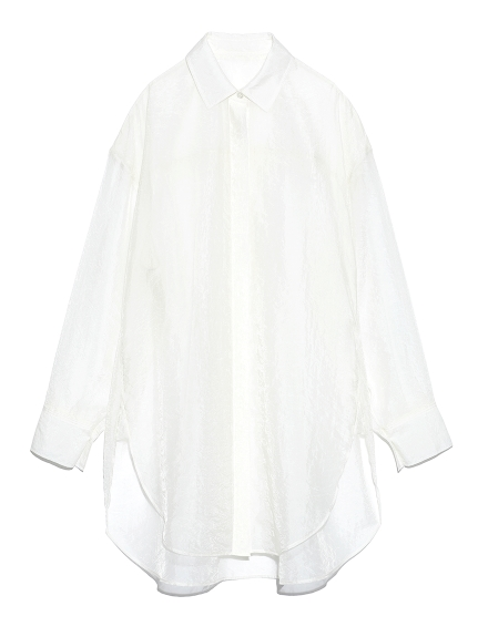 オーガンザシャツ(WHT-F)