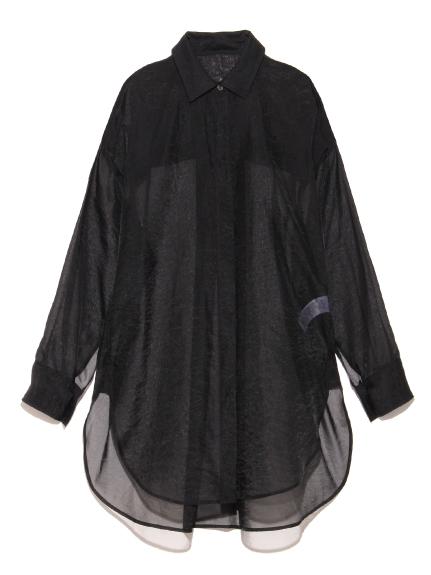 オーガンザシャツ(BLK-F)