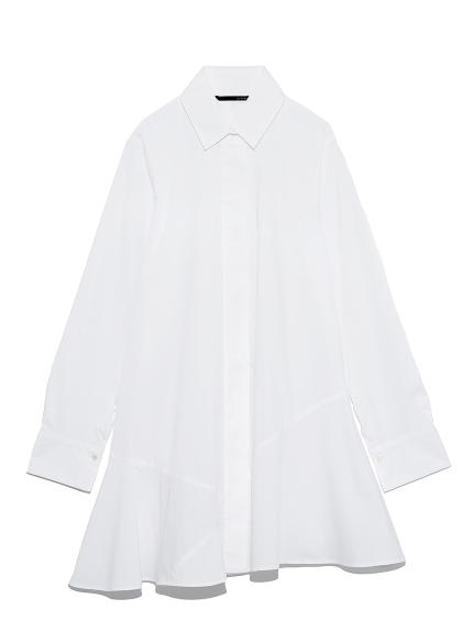 ヘムフレアシャツ(WHT-F)