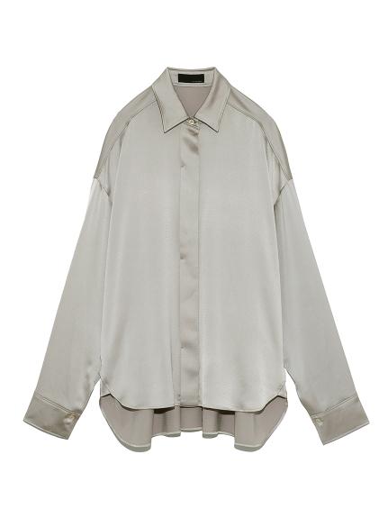 リラックスサテンシャツ(GRY-F)