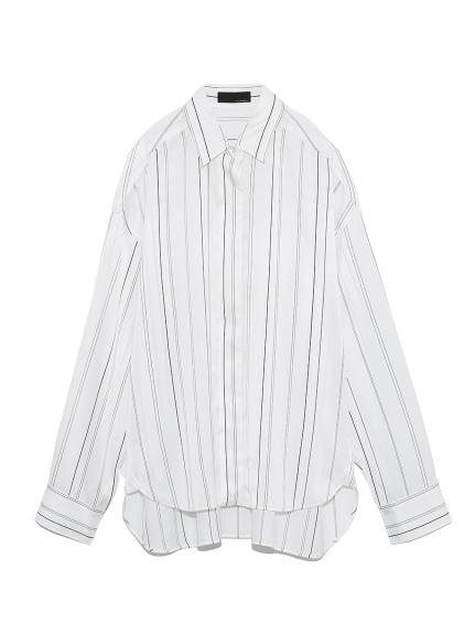 リラックスサテンシャツ(STRIPE-F)