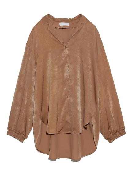 オープンカラーサテンシャツ(BRW-F)