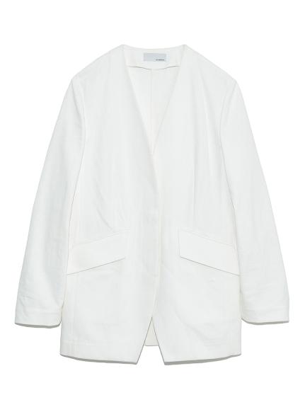 ノーカラースーツジャケット(WHT-0)