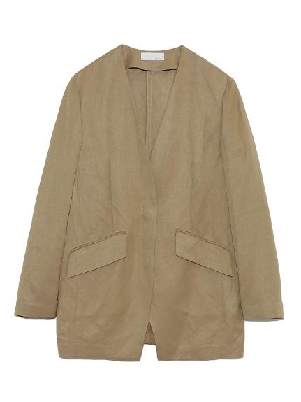 ノーカラースーツジャケット(BEG-0)
