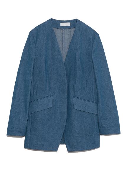 ノーカラースーツジャケット(BLU-0)