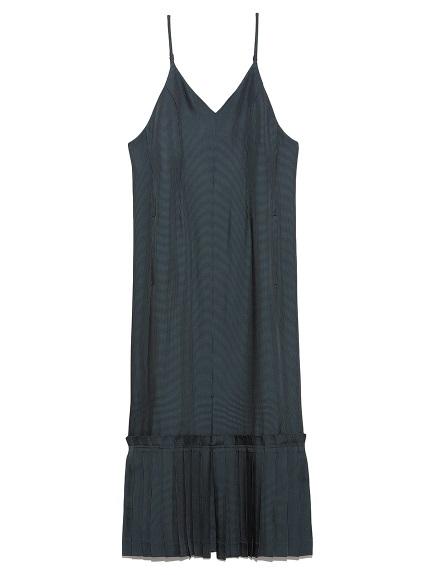ヘムプリーツ キャミドレス