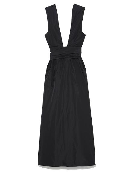 イタリータフタ ドレス(BLK-0)