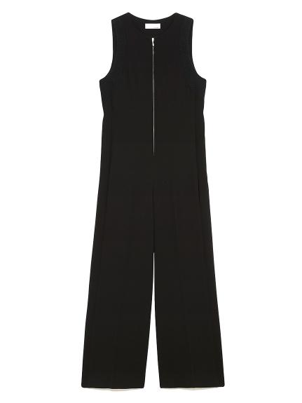 ジップアップ ドレス オールインワン(BLK-0)