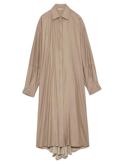 オープンバックシャツドレス