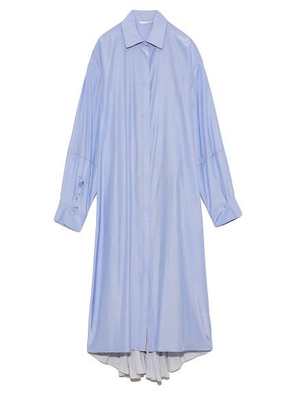 オープンバックシャツドレス(SAX-0)