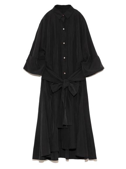 オーバーシャツドレス(BLK-0)