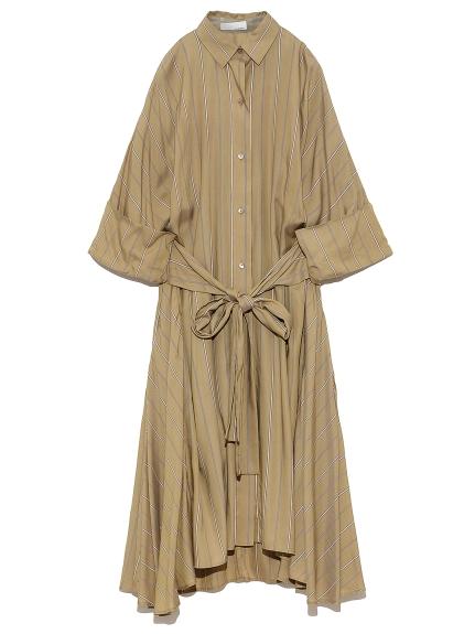 オーバーシャツドレス(STRIPE-0)