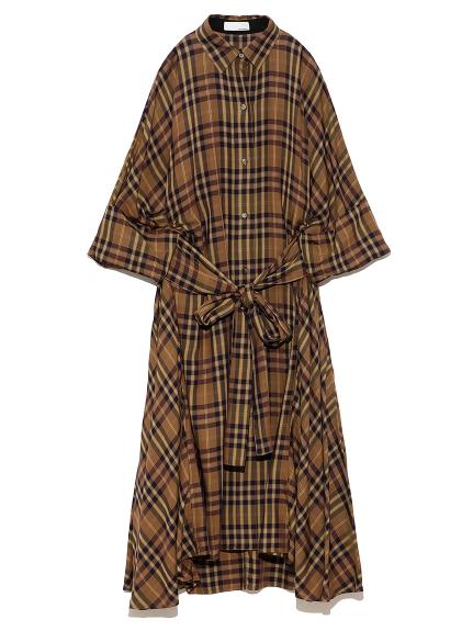 オーバーシャツドレス(CHECK-0)