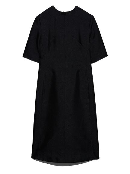 擬紗織バックラッフルドレス(NVY-0)