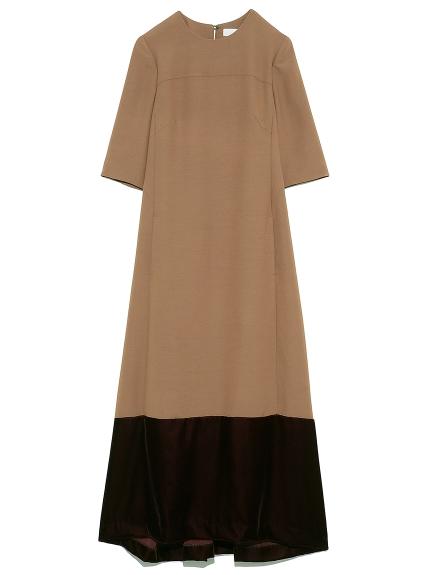ベルベットヘムロングドレス