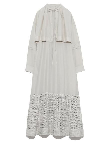 シルクコットンレイヤードドレス(BEG-0)