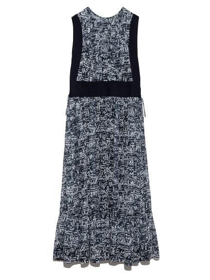 シフォンティアードドレス