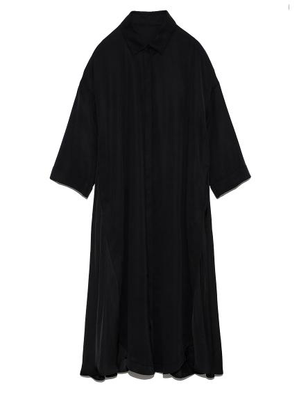 ロングシャツドレス(BLK-0)