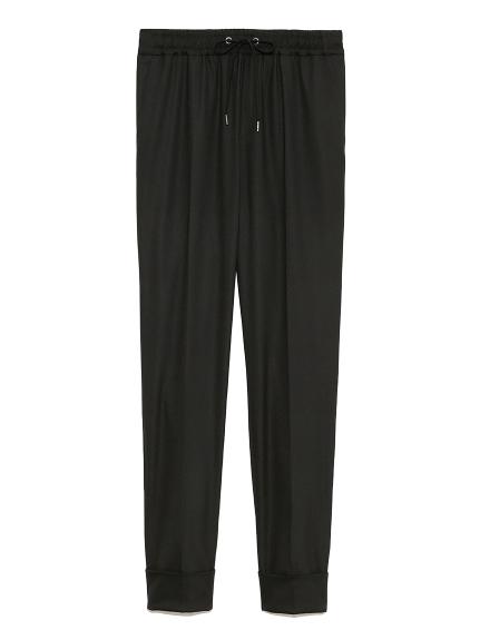 リラックス スーツパンツ(BLK-0)