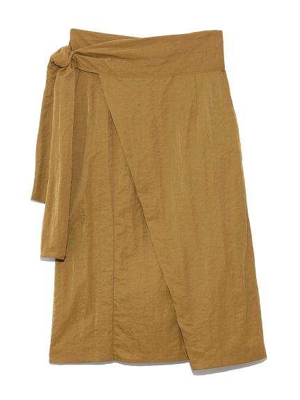 ワイドベルト ラップスカート