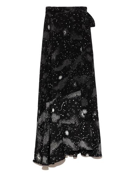 白夜柄 ラップスカート