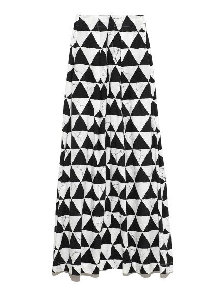 ワイドタック スカート(WHTxBLK-0)