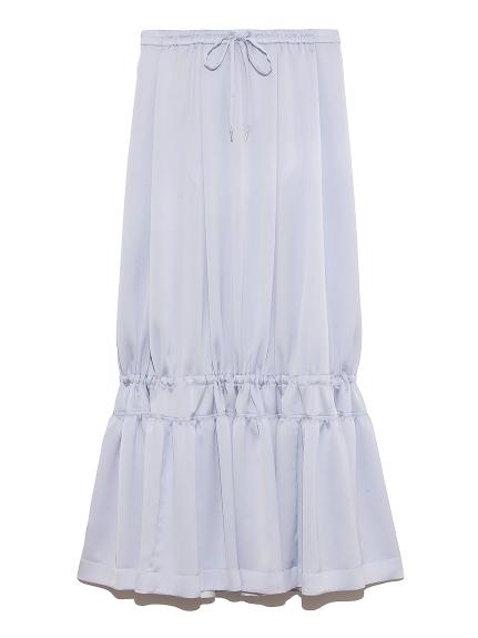 ロング ティアード スカート(SAX-0)
