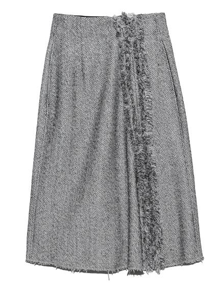ツィードフレアスカート(WHTxBLK-0)