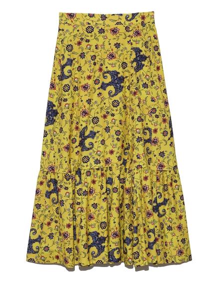ヴィンテージフラワーラップスカート(YEL-0)
