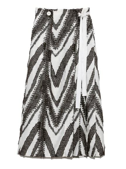 オリジナルジャガードラップスカート