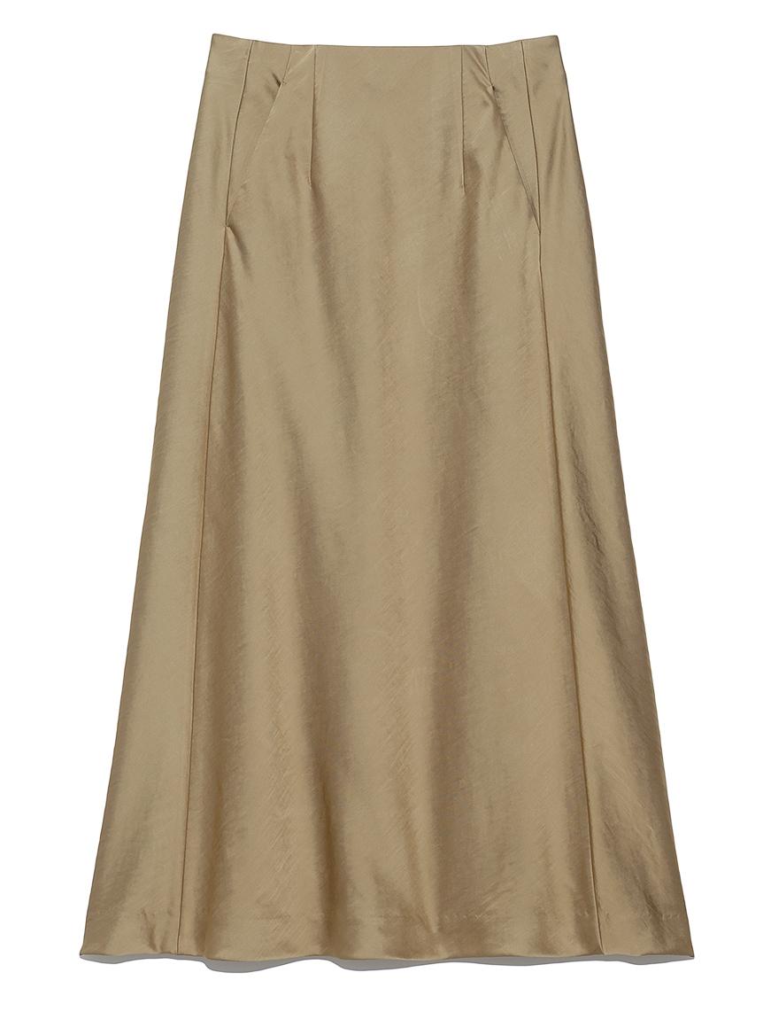 バイアスカットサテンスカート(BEG-0)