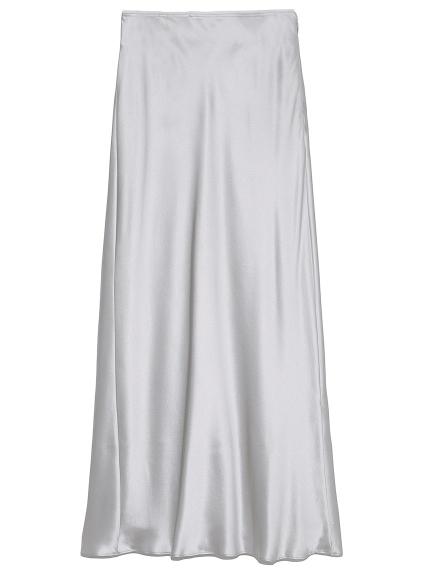 シルクサテンスカート(LGRY-0)