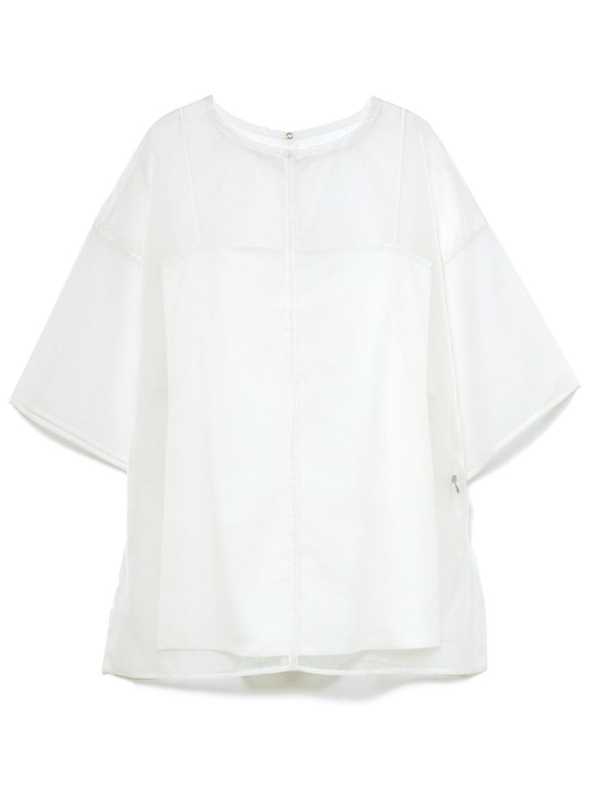 オーガンザアンサンブルTシャツ(WHT-F)