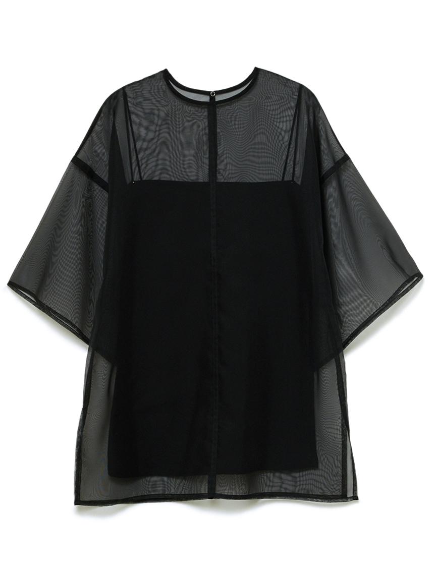オーガンザアンサンブルTシャツ(BLK-F)