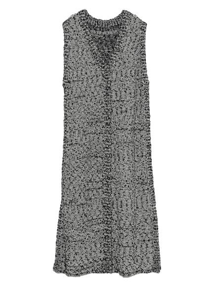 ジャガードニットワンピース(BLK-F)