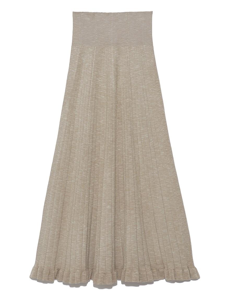 リブニットスカート(BEG-0)