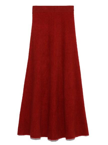 スレッドジャガードニットスカート(RED-0)