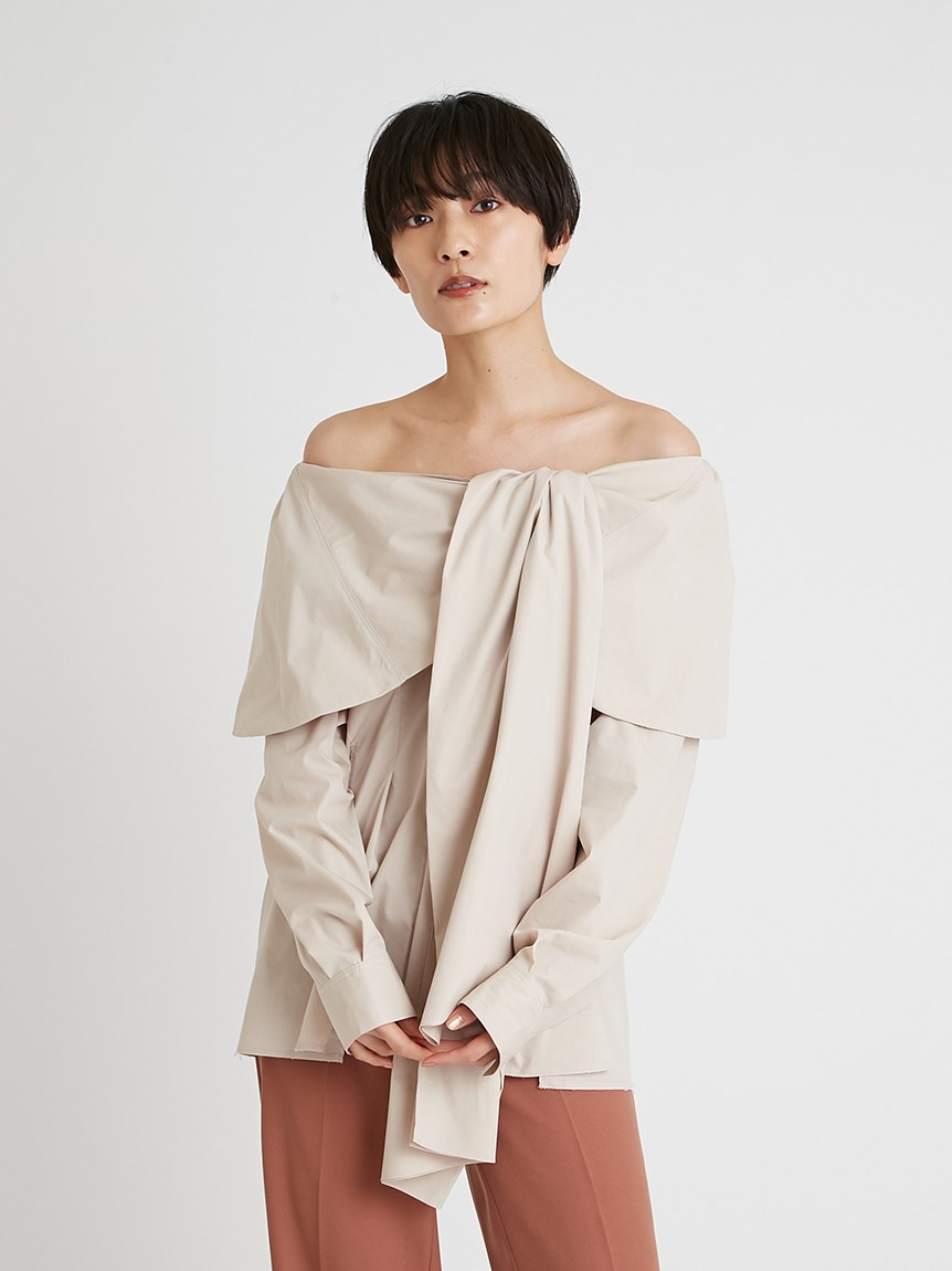 オフショルダーラップシャツ   16WFB214062