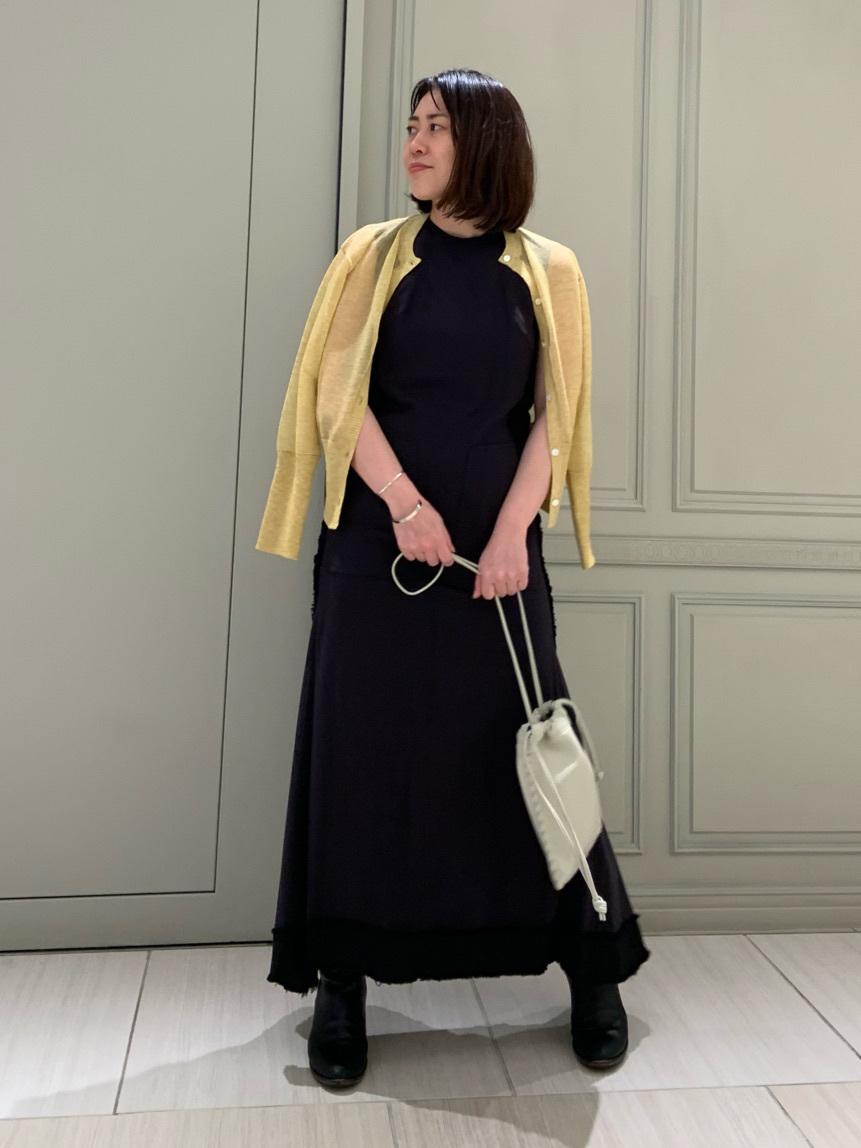 カットオフリネンロングドレス | 16WFO211040