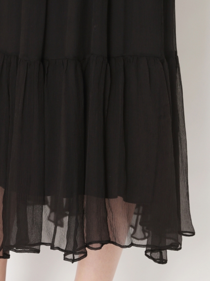 シルクシフォンティアードスカート | 16WFS211007