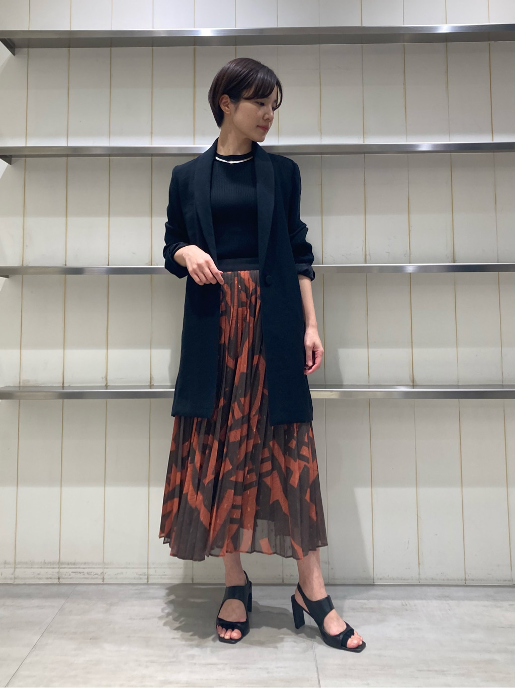 シフォンプリーツスカート | 16WFS211049